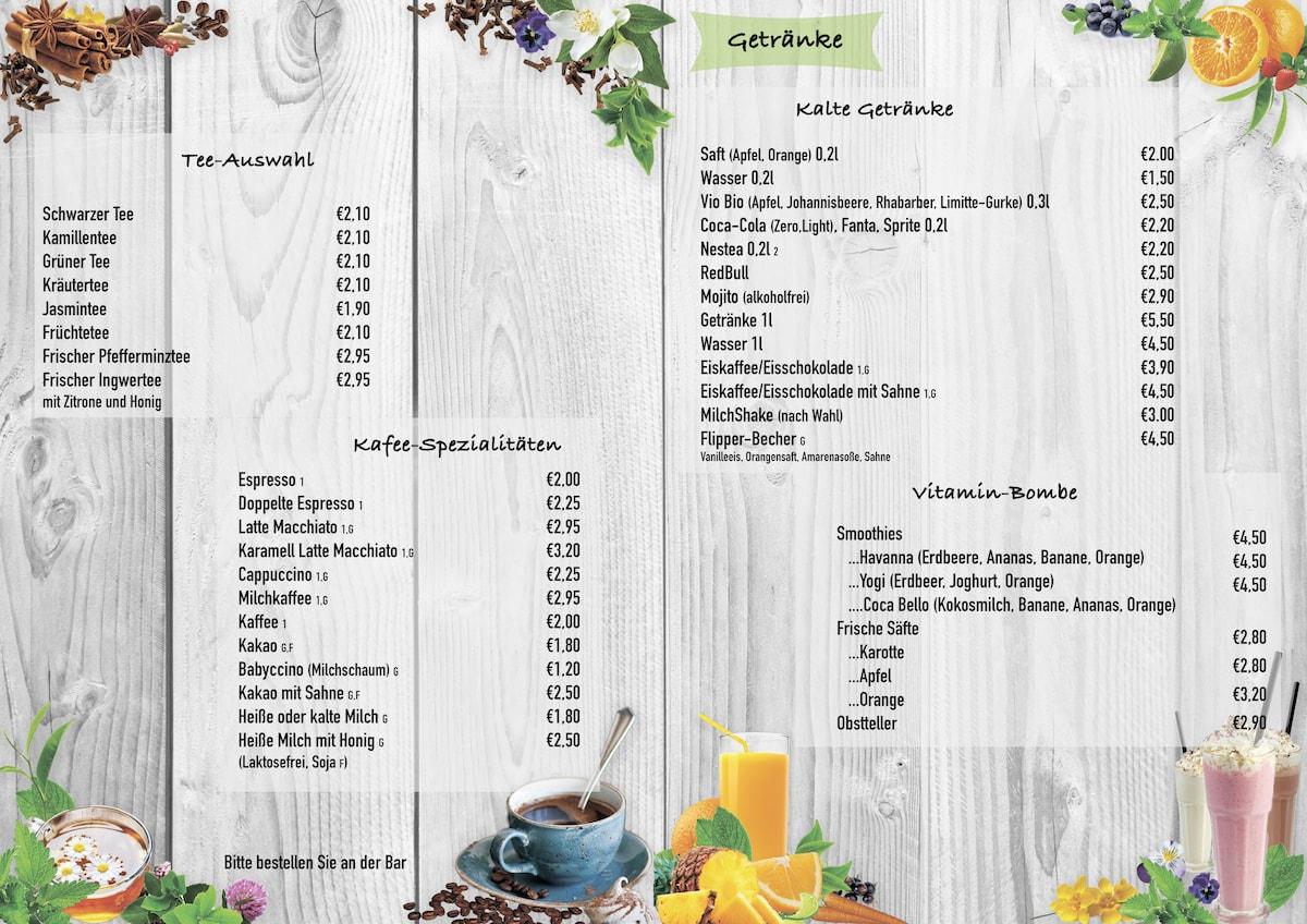 Speisekarte | Kindercafe Duesseldorf - Wunderhaus